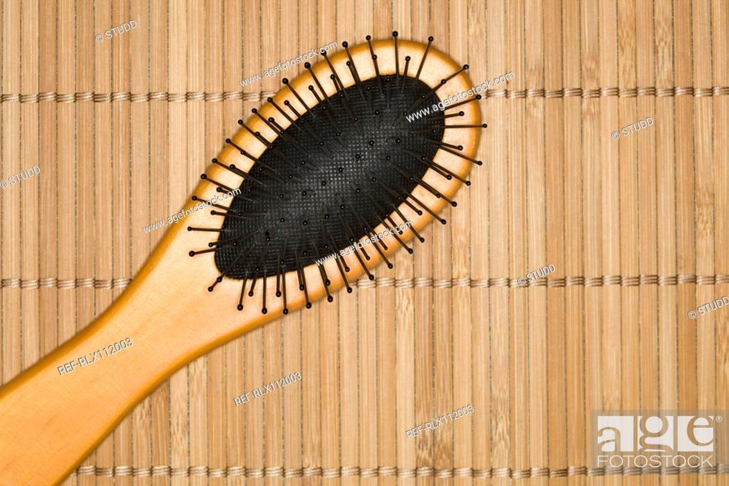 Stock Photo: Close up of hair brush.