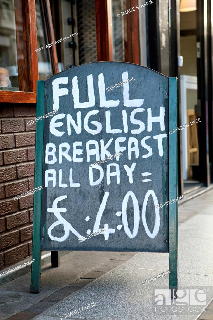 Stock Photo: Full English breakfast sign.
