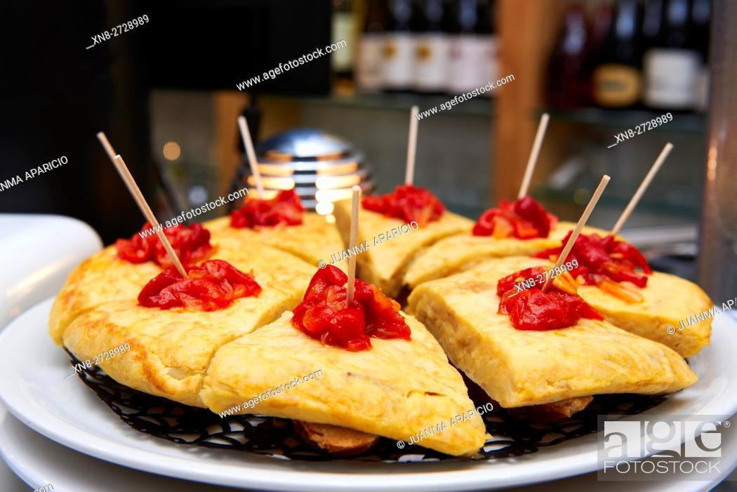 Stock Photo: Spanish Omelet, Pintxos, Tapas.