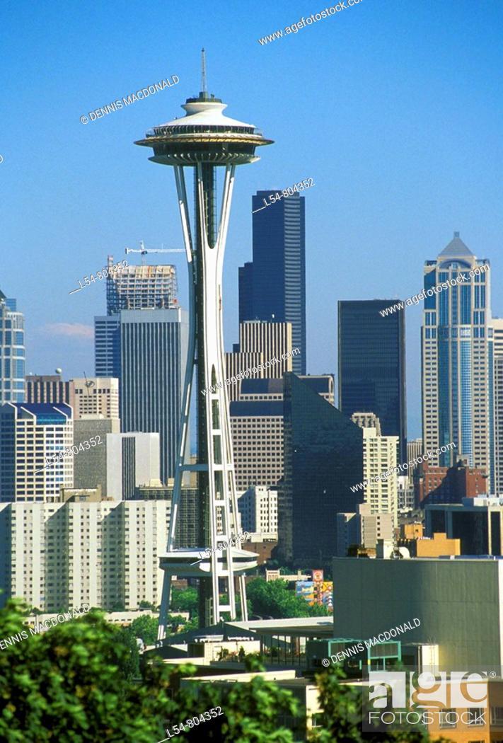 Stock Photo: Seattle Washington Skyline.