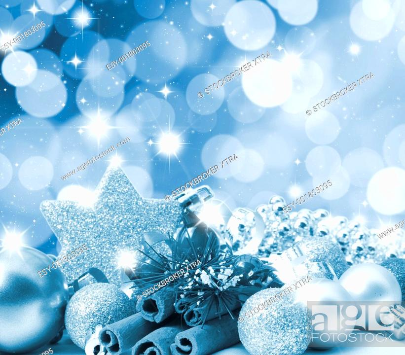 Stock Photo: Christmas background with blurred light effect.
