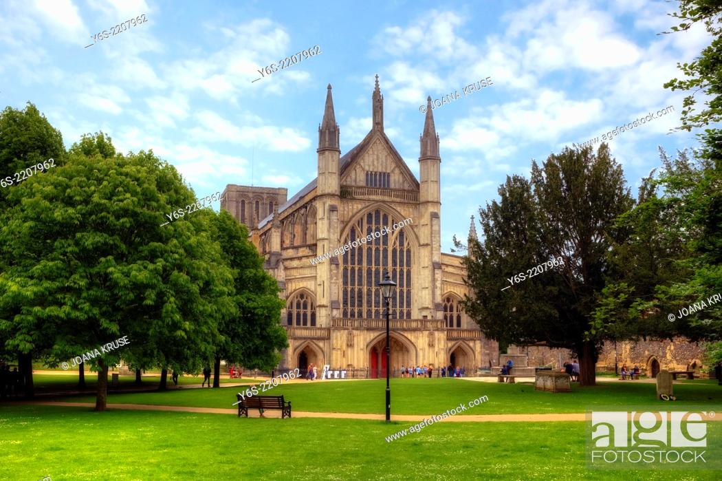 Stock Photo: Winchester Cathedral, Winchester, Hampshire, England, United Kingdom.