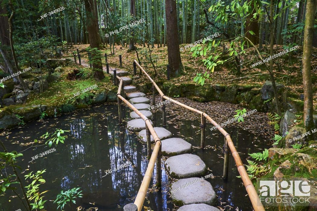 Stock Photo: Japan, Honshu island, Kansai region, Kyoto, Tenju-an temple.