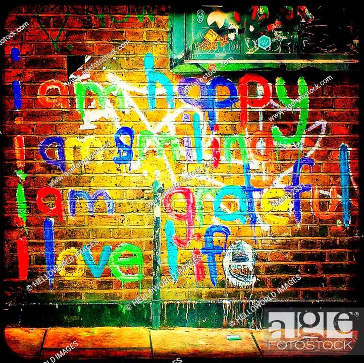 Stock Photo: Urban Graffiti, London, England, Europe.