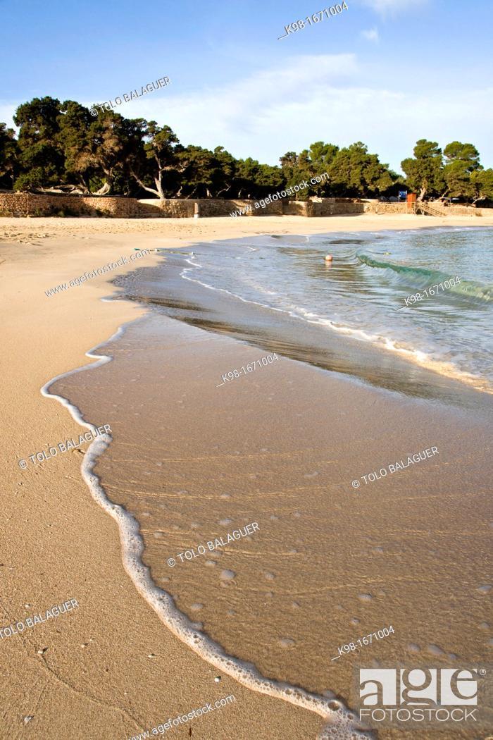 Stock Photo: Cala Bassa .Cala Bassa, Cala Compte Natural park . Ibiza. Balearic islands. Spain.
