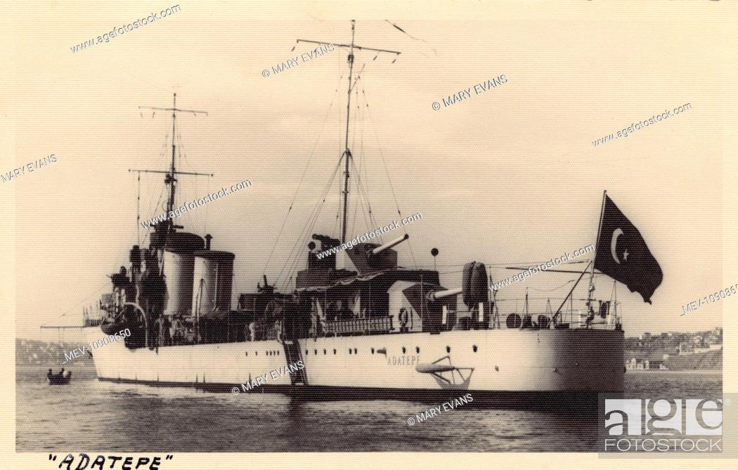 Stock Photo: Turkish Naval vessel - Adatepe at Istanbul, Turkey.