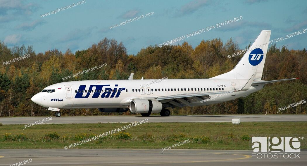 Imagen: A Boeing 737-800 aircraft of the Russian airline UTair arrives at the Dresden International Airport in Dresden, Germany, 27 October 2013.