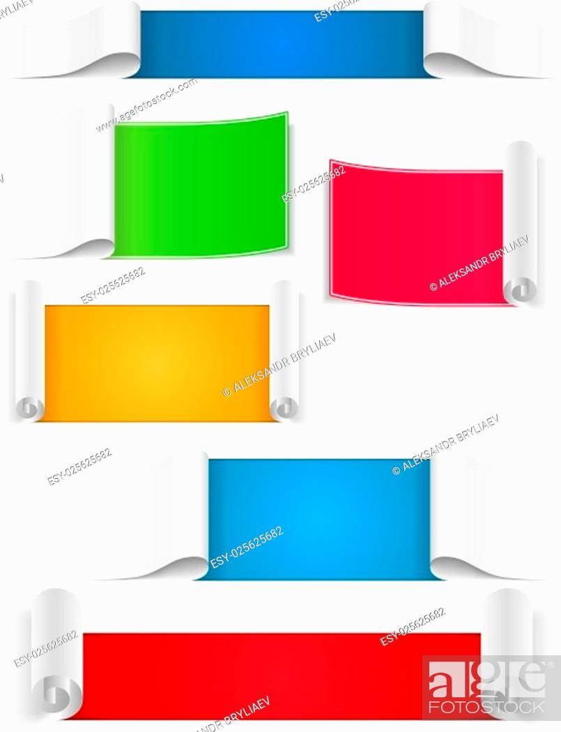 Stock Vector: Blank Paper Banners.