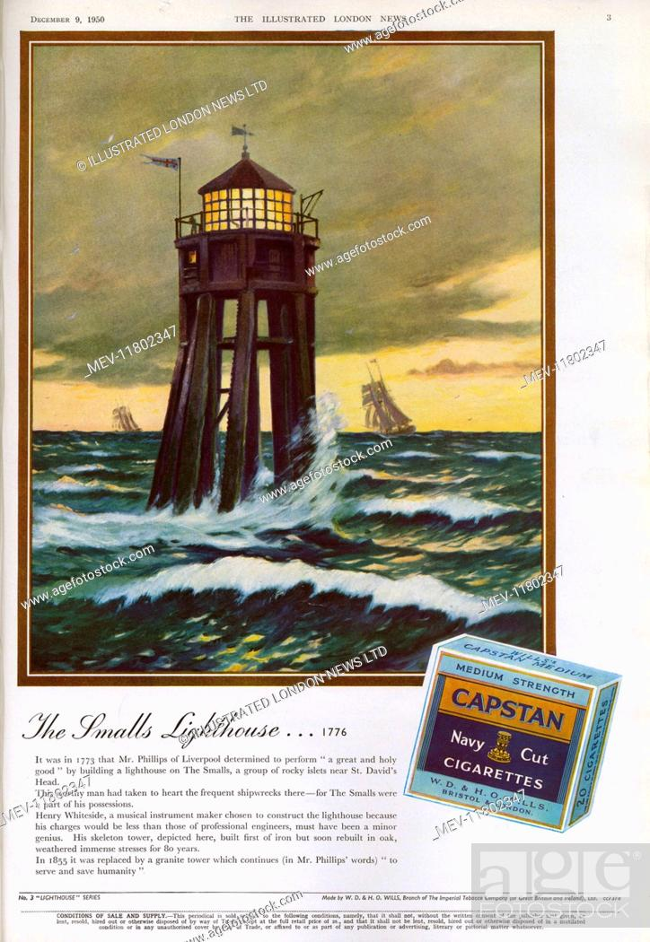 Stock Photo: Capstan Navy Cut Cigarettes advertisement.