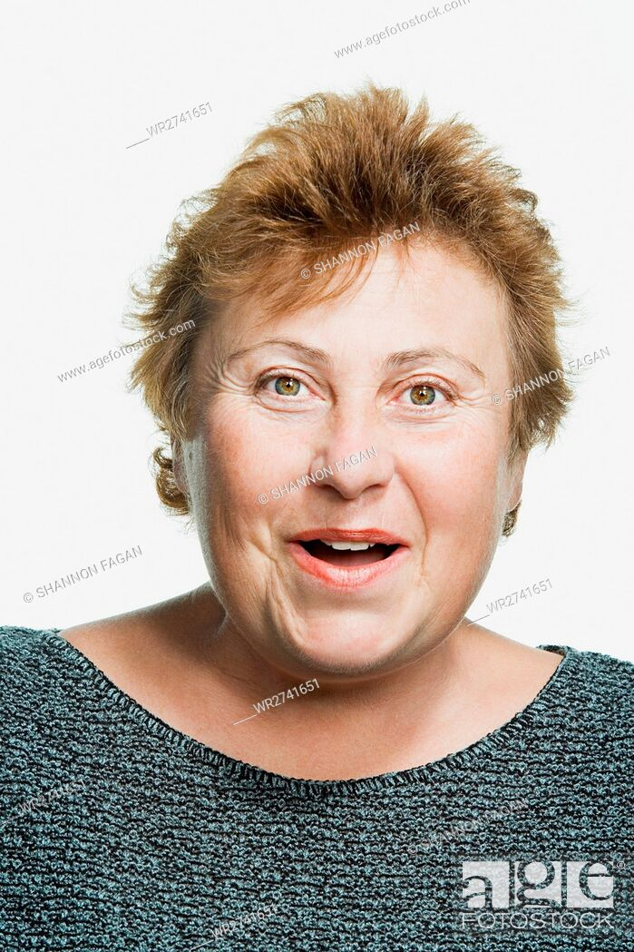 Stock Photo: Portrait of a mature adult woman.
