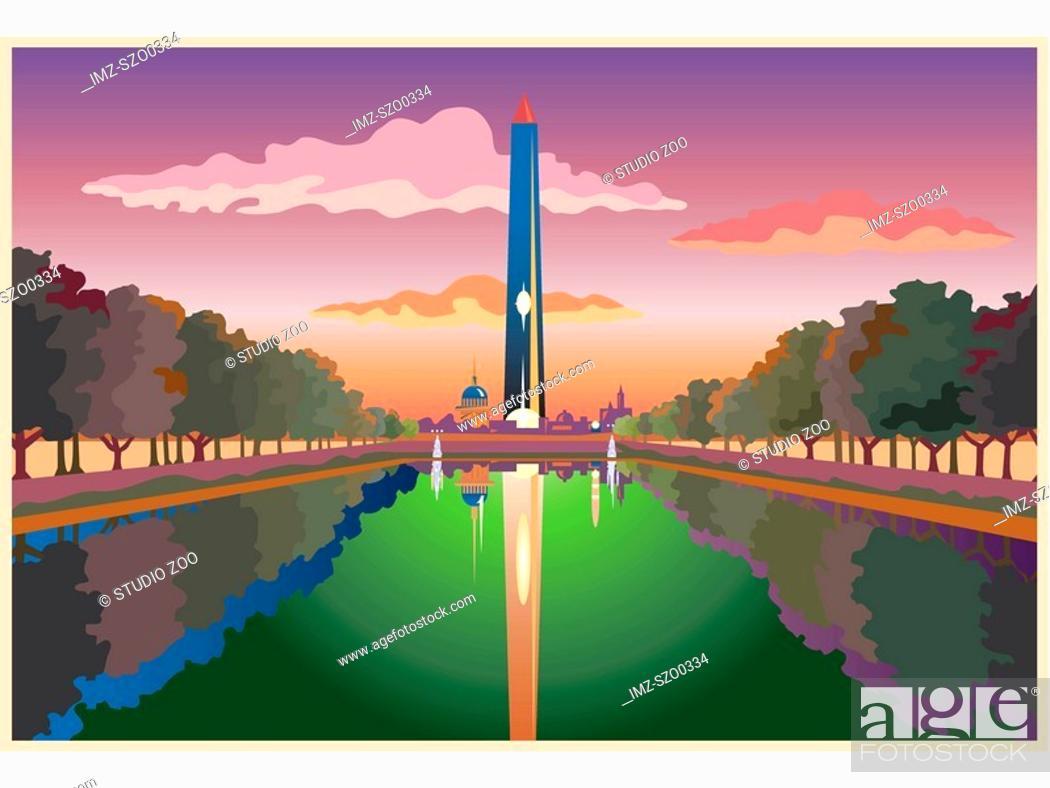 Stock Photo: Washington Monument.