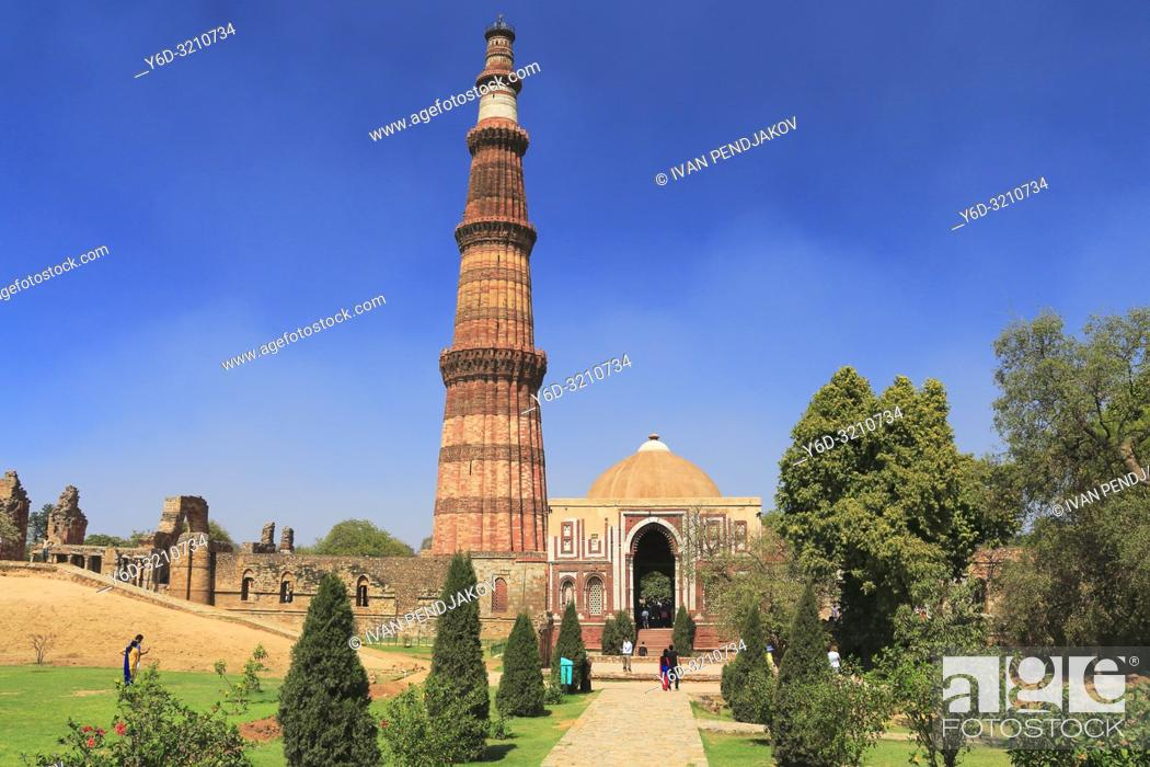 Stock Photo: Qutb Minar, New Delhi, India.