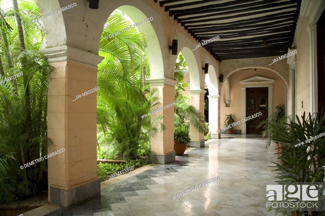 Stock Photo: Casa de Montejo, Merida, Yucatan, Mexico.