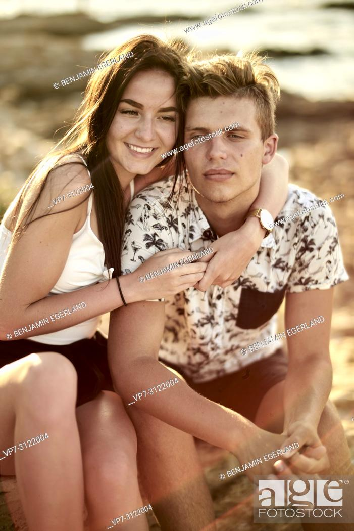 Stock Photo: Couple, love, relationship. Chersonissos, Crete, Greece.