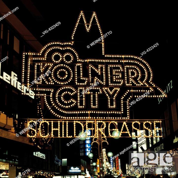 Otto Weihnachtsbeleuchtung.D Koeln Rhein Nordrhein Westfalen Weihnachten Vorweihnachtszeit