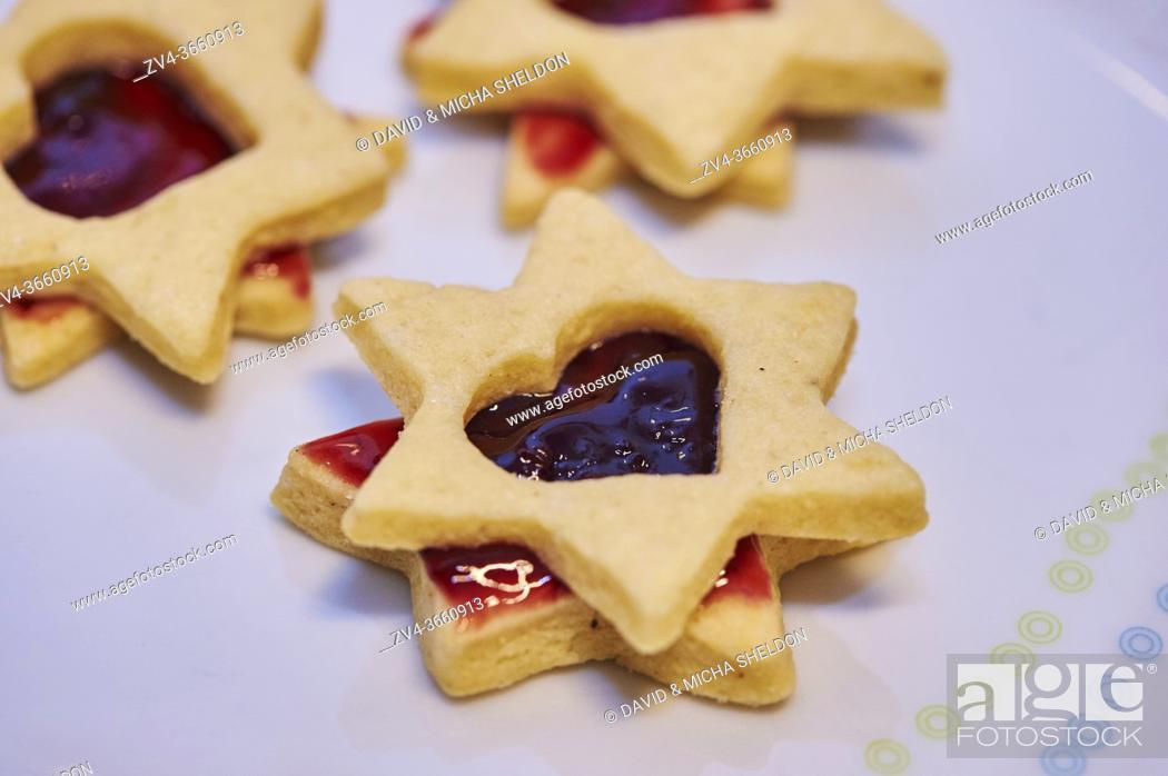 Stock Photo: Close-up of biscuits for christmas, Germany.