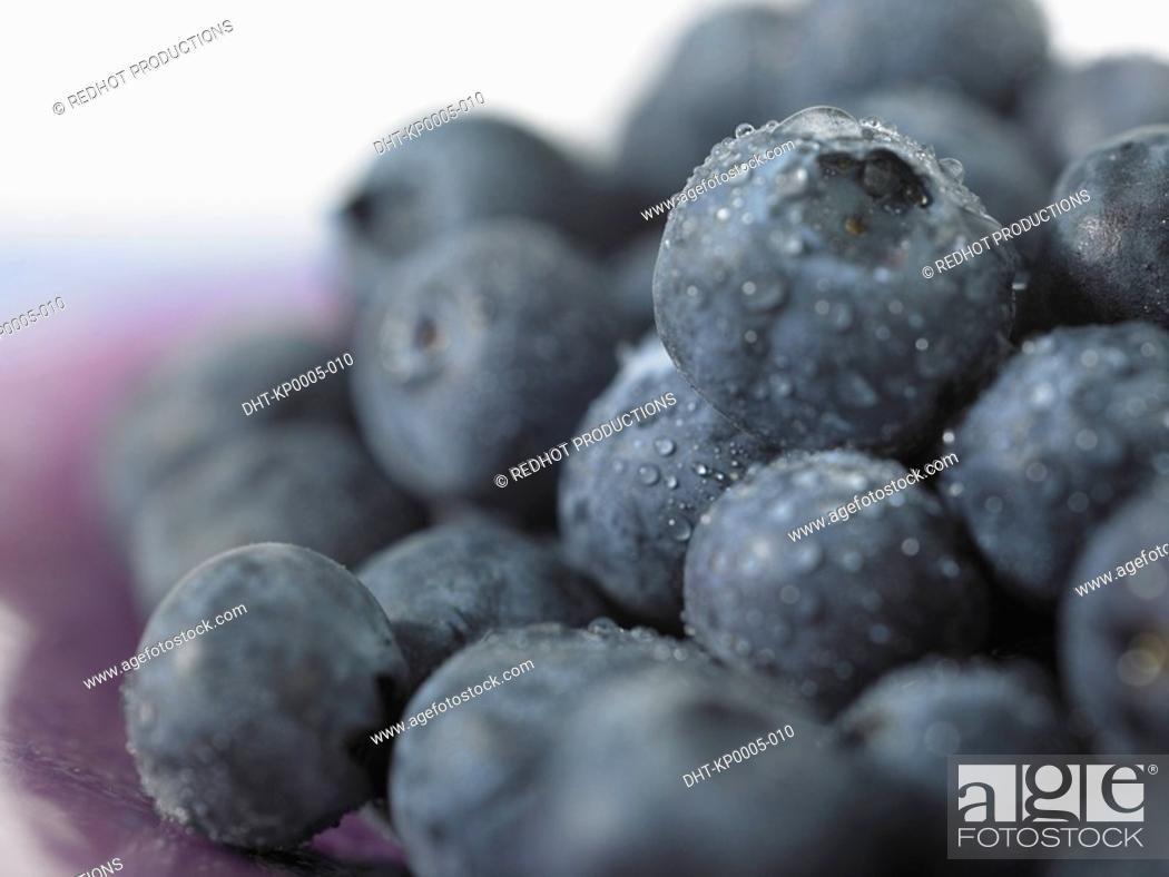 Stock Photo: Food, Fruit, Blueberries.