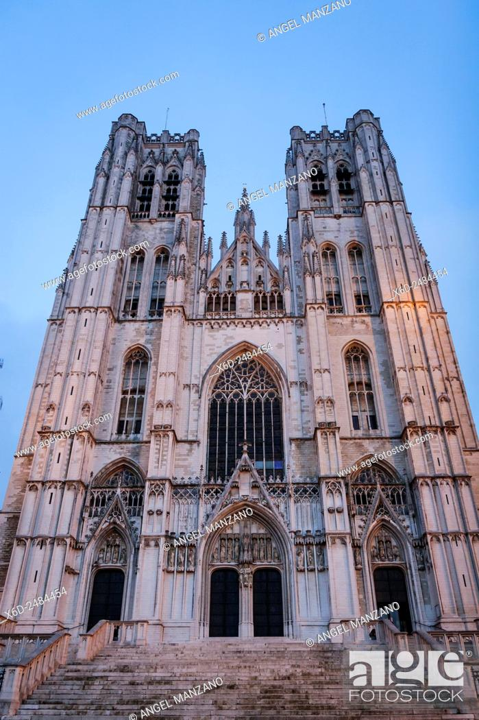 Stock Photo: Cathedral of St. Michael and St. Gudula, Brussels.