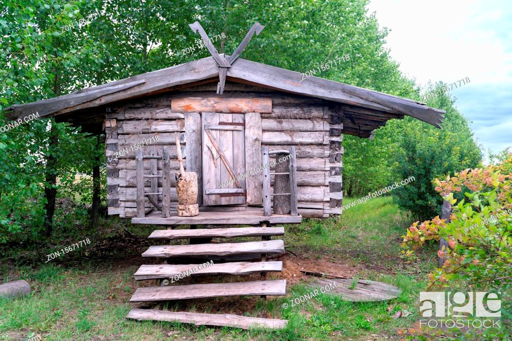 Stock Photo: The old traditional house in kazan region.