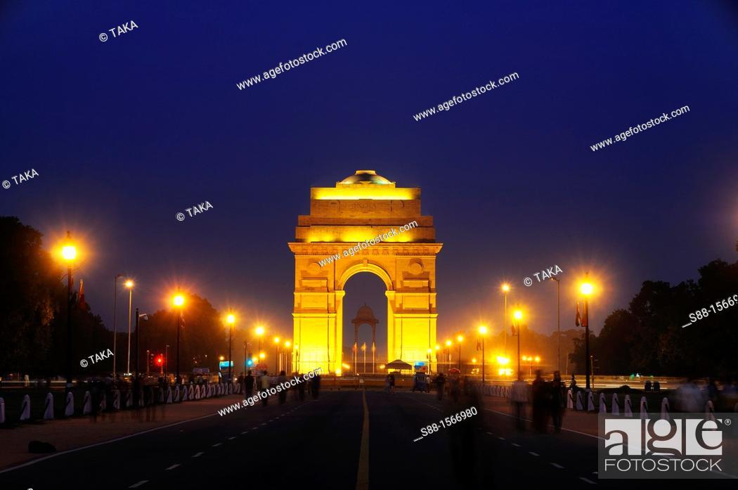 Stock Photo: India Gate in New Delhi.