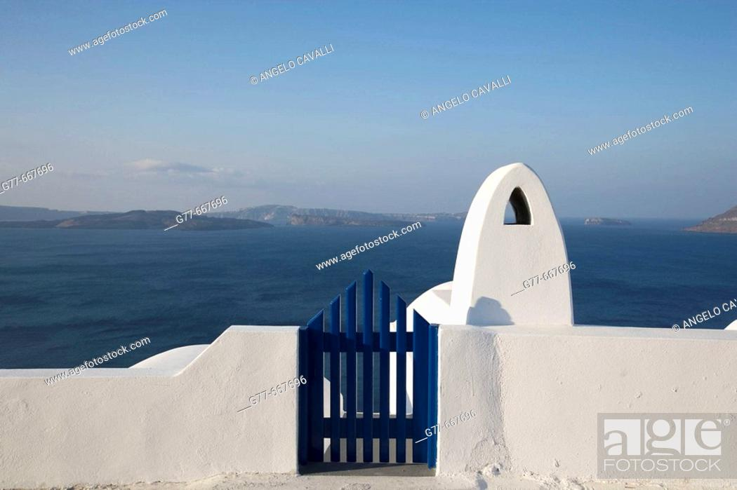Stock Photo: Greece. Cyclades Islands. Santorini. Oia.