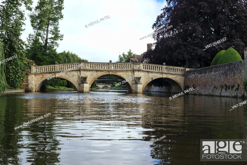 Stock Photo: River Cam by The Backs, Cambridge, England, UK.