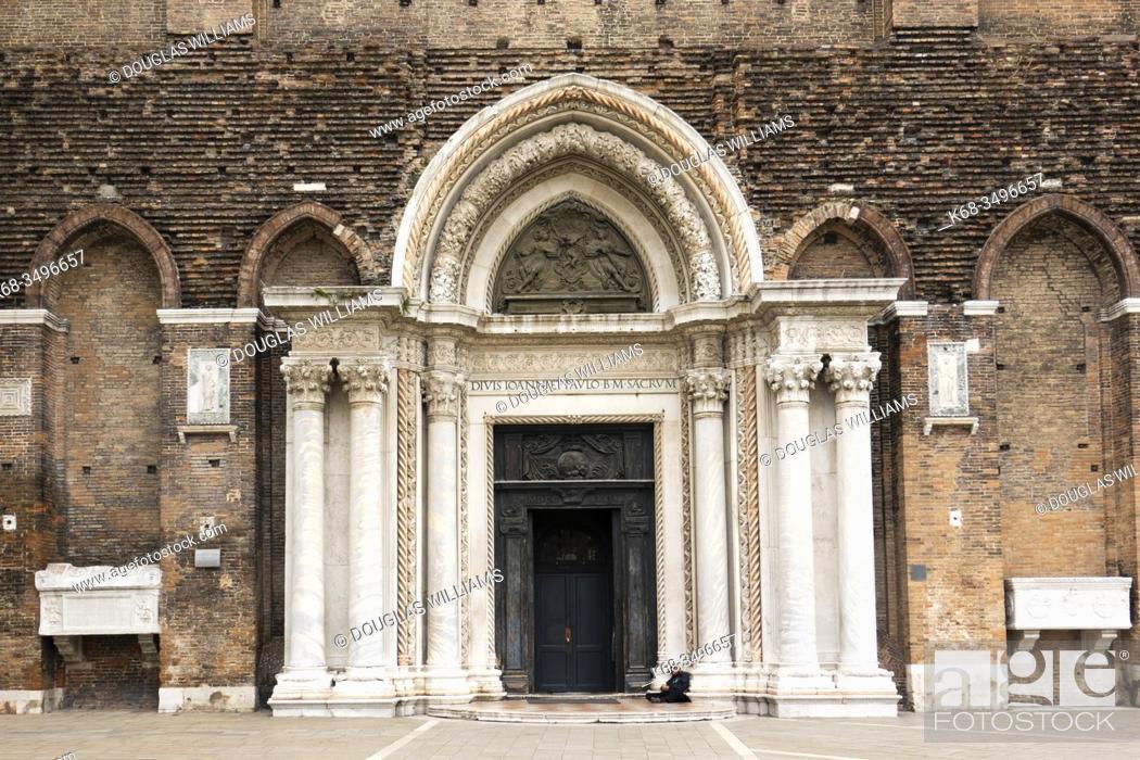 Stock Photo: Basilica Santi Giovanni e Paolo in Venice, Italy.