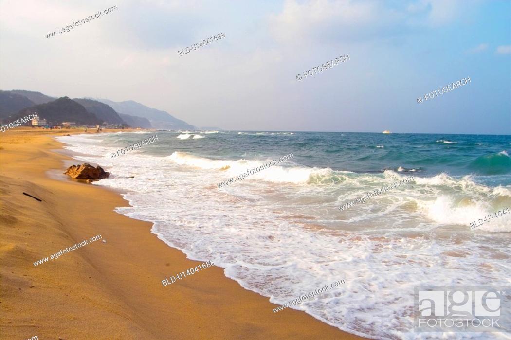Stock Photo: sea, waves, landscape, scenery, wave, sky.