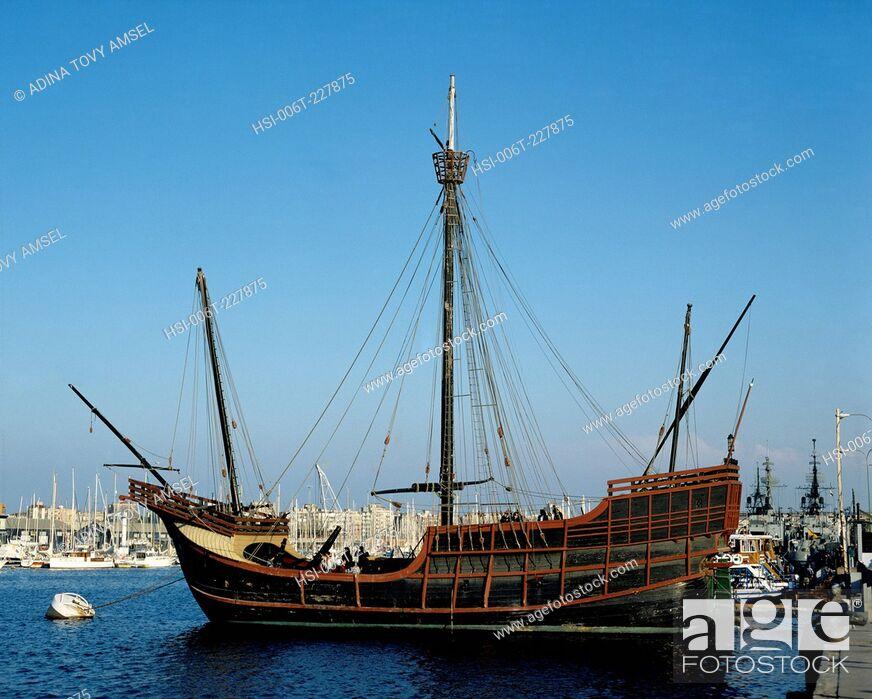 Stock Photo: Spain. Barcelona. Saint Maria Floating Museum Ship.
