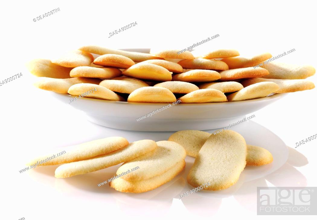 Lingue Di Gatto Long And Narrow Biscuits Stock Photo Picture And
