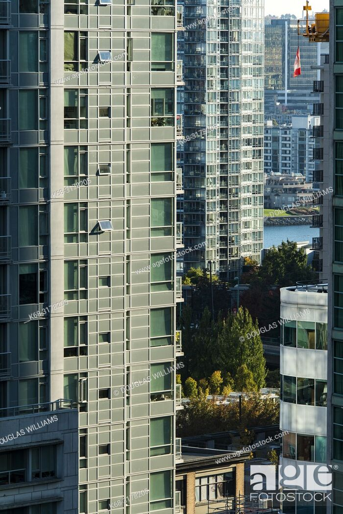 Imagen: apartment towers in downtown Vancouver, BC, Canada.