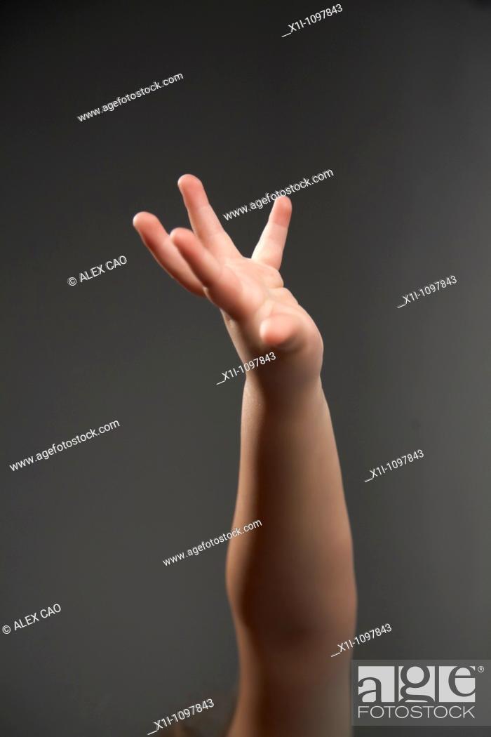 Stock Photo: Raised arm.