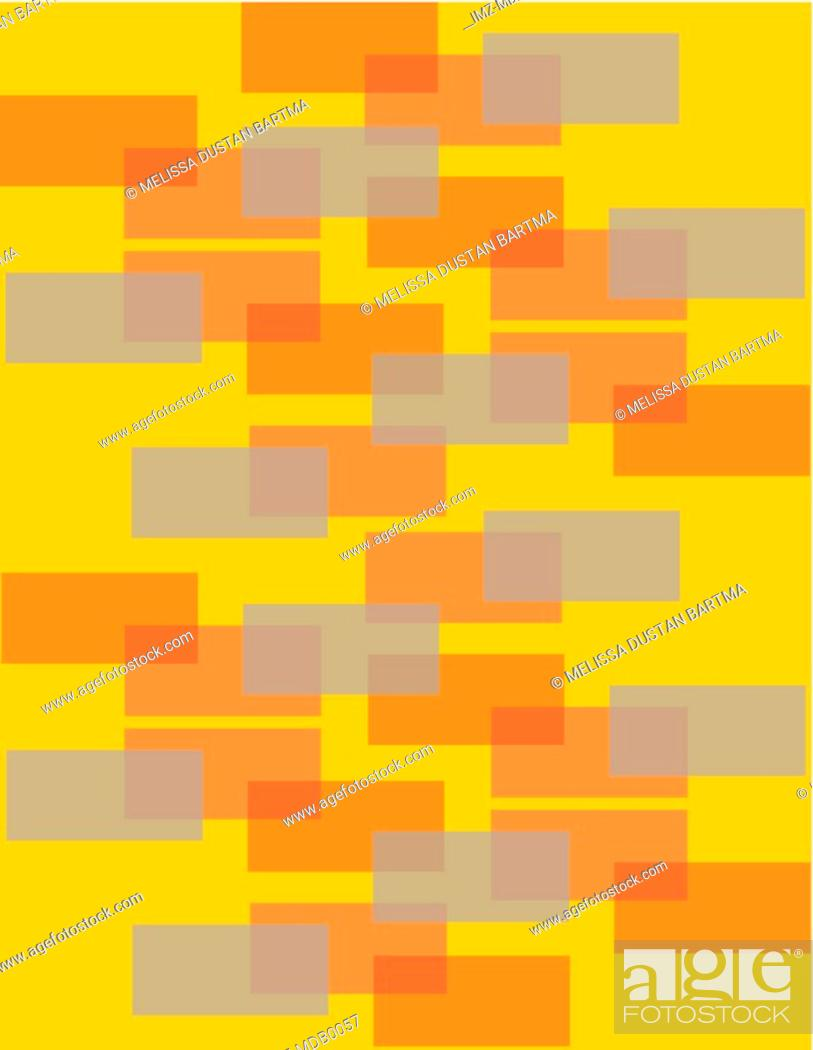 Stock Photo: Orange and grey rectangles on an orange background.