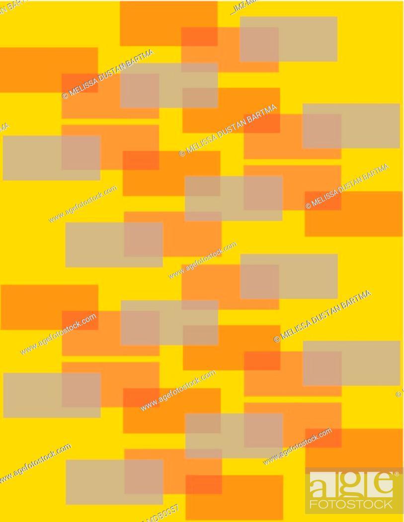 Stock Photo: Orange and grey rectangles on an orange background.