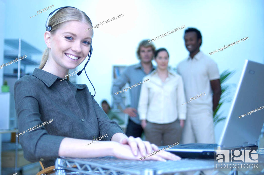 Stock Photo: Working people in office.