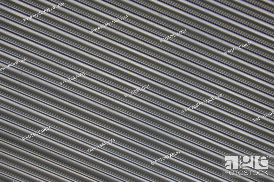 Stock Photo: Close-Up, Corrugated Iron, Extreme Close-Up, Full Frame.