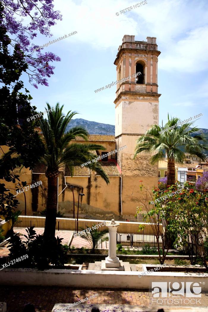 Stock Photo: Church of the Asuncion in Denia, Spain.