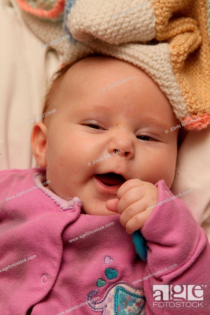 Stock Photo: Baby smiling.