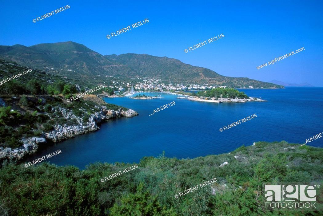 Stock Photo: Greece - Peloponnese - Argolide - Nethana Harbour.