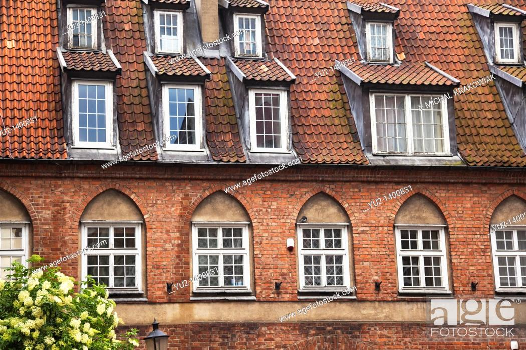 Stock Photo: Old townhouse in Gdansk, Poland.