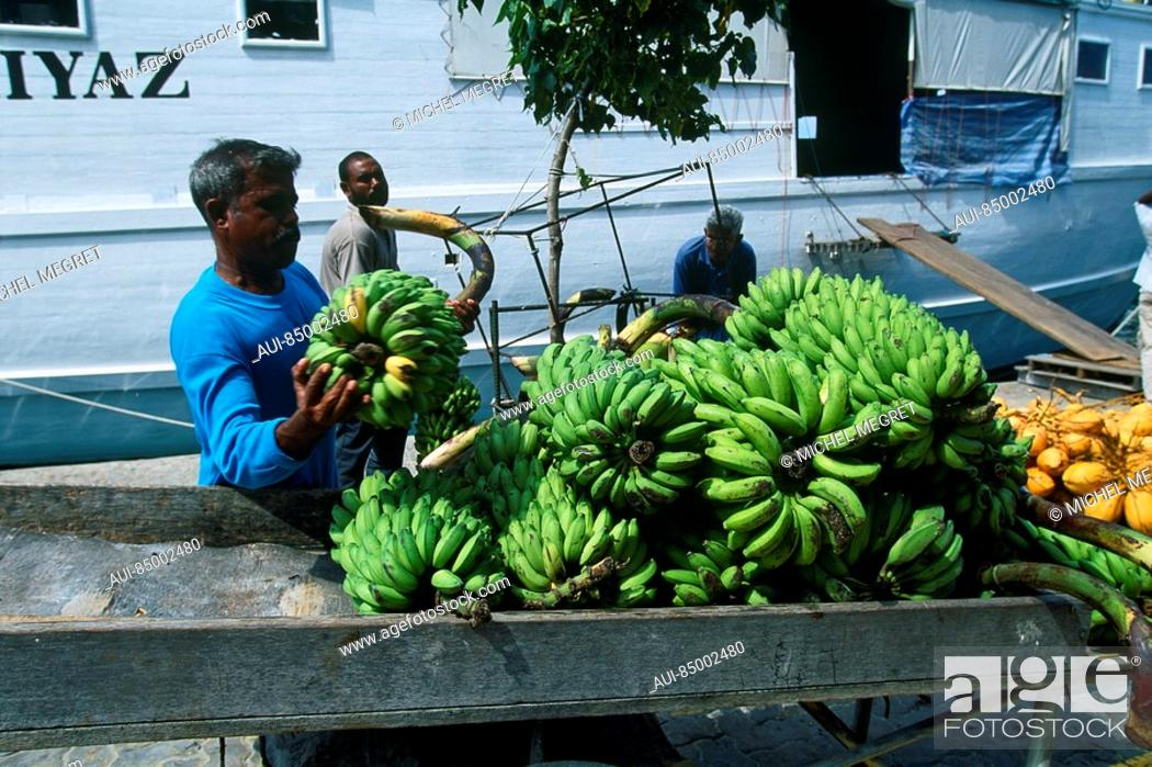 Stock Photo: Maldives - Male - Market.