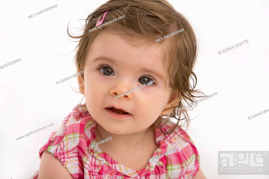 Stock Photo: Close up of baby girl.
