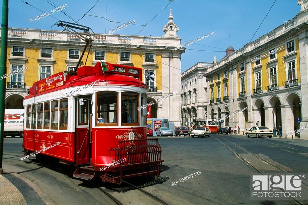 Stock Photo: Portugal - Lisbon - Streetcar.