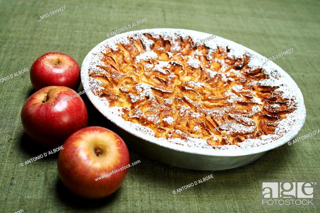 Stock Photo: Just baked apple pie.