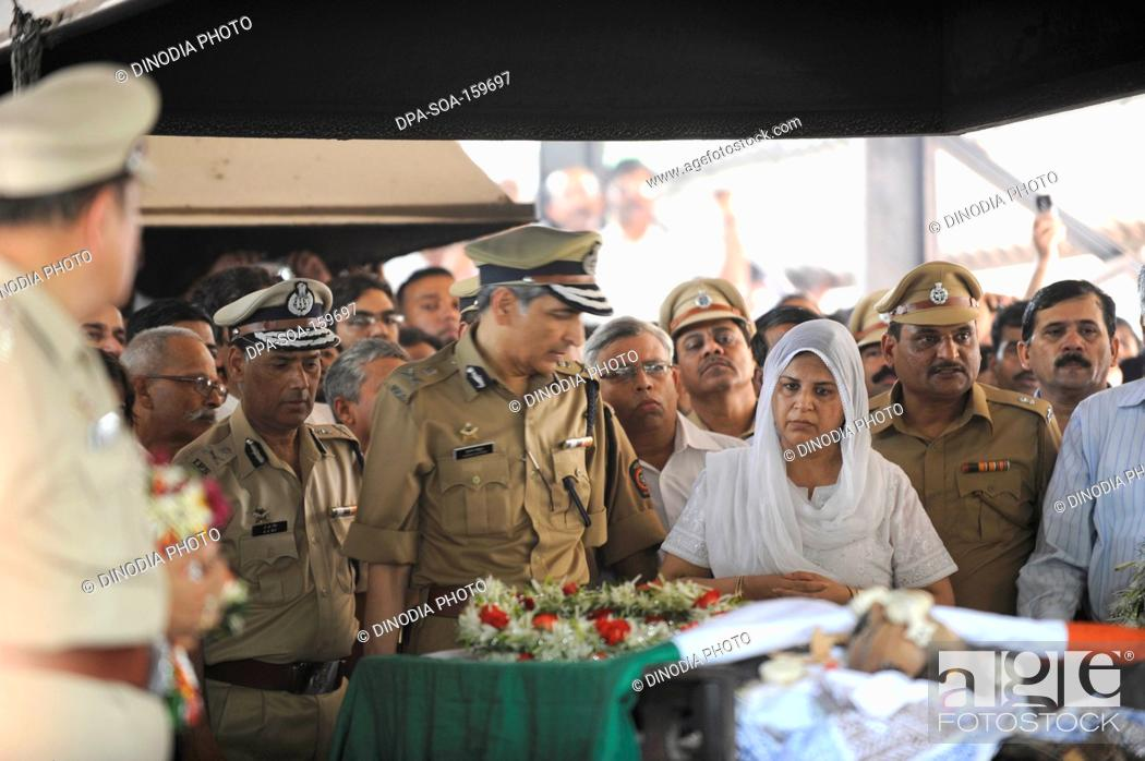 IPS officer Hasan Gafoor and A N  Roy at funeral of Anti Terrorism