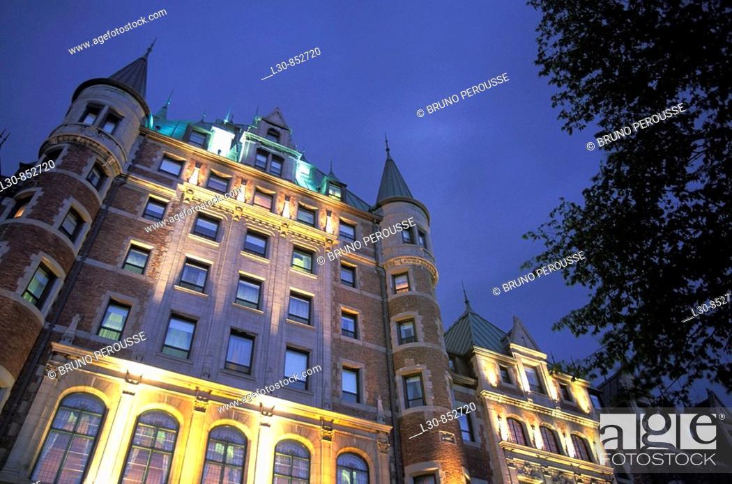 Stock Photo: Château Frontenac, Quebec City, Quebec, Canada.