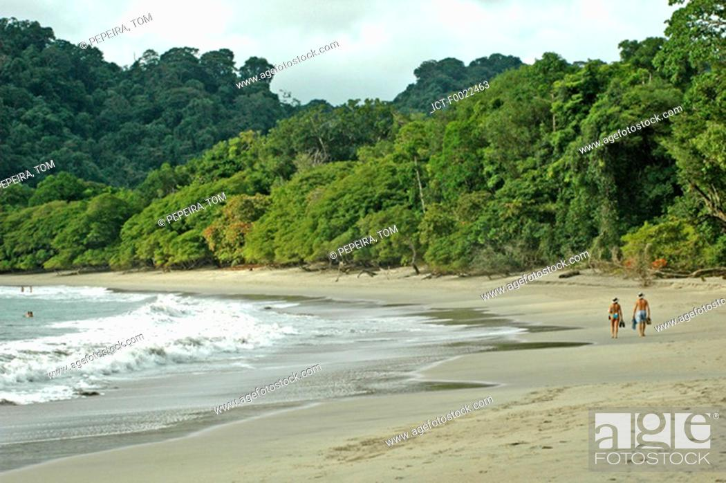 Stock Photo: Costa Rica, Manuel Antonio National Park, beach.