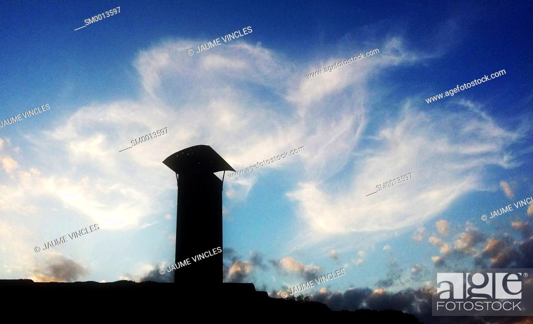 Photo de stock: Chimney. Caldes d'Estrac, Maresme, Barcelona province, Catalonia, Spain.