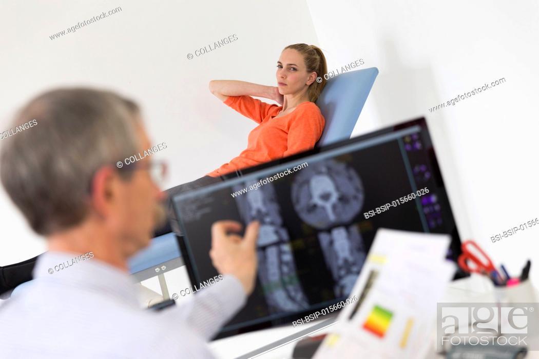 Stock Photo: Lumbar scan and bone densitometry.
