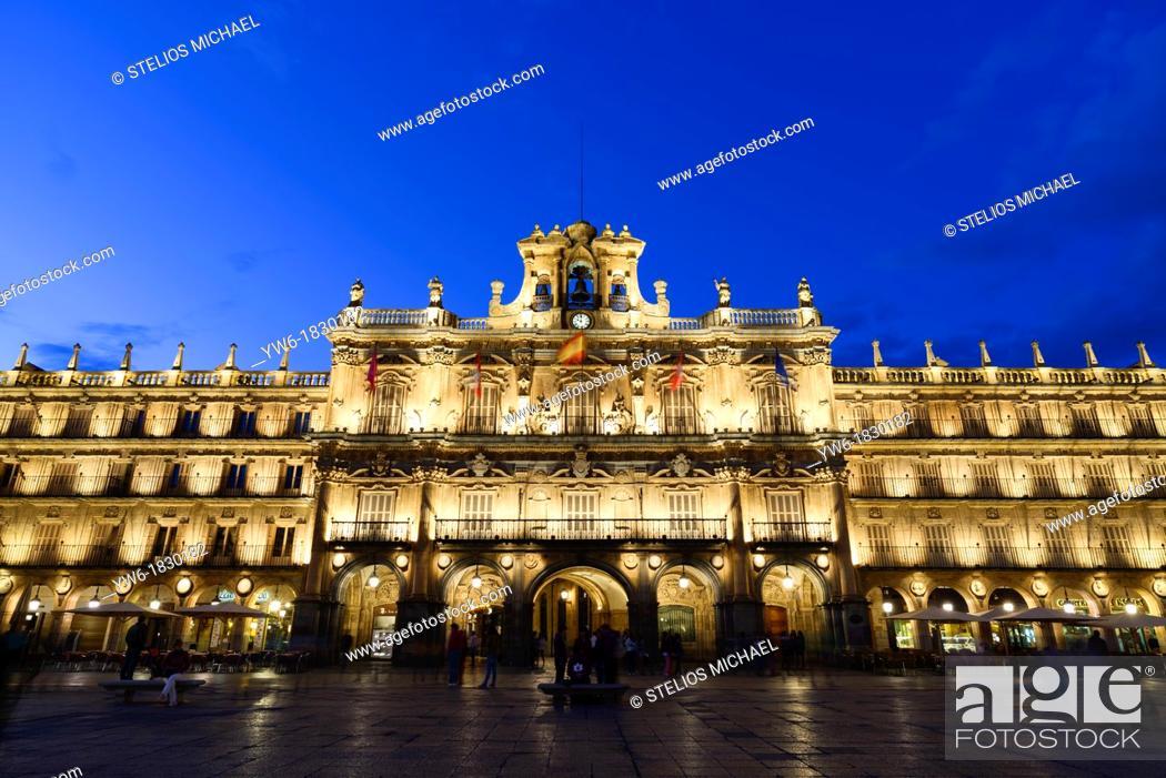Stock Photo: Plaza Mayor, Salamanca, Spain, Europe.